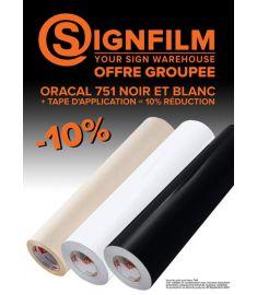 Offre Groupee septembre Oracal 126cm + R-Tape 122cm