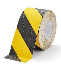Ruban adhésif de marquage au sol jaune/noir 25mm x 18.3m