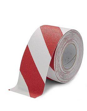 Ruban adhésif de marquage au sol blanc/rouge 50mm x 18.3m